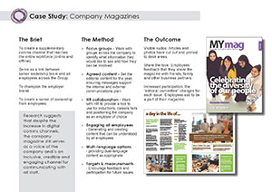Case study company magazine