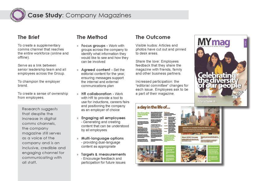 Company Magazine case study
