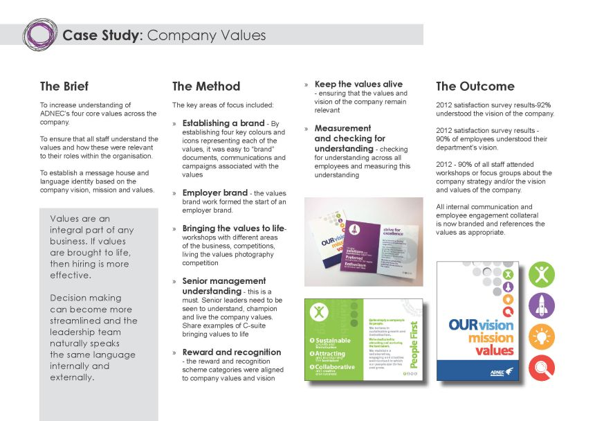 Case study - company core values