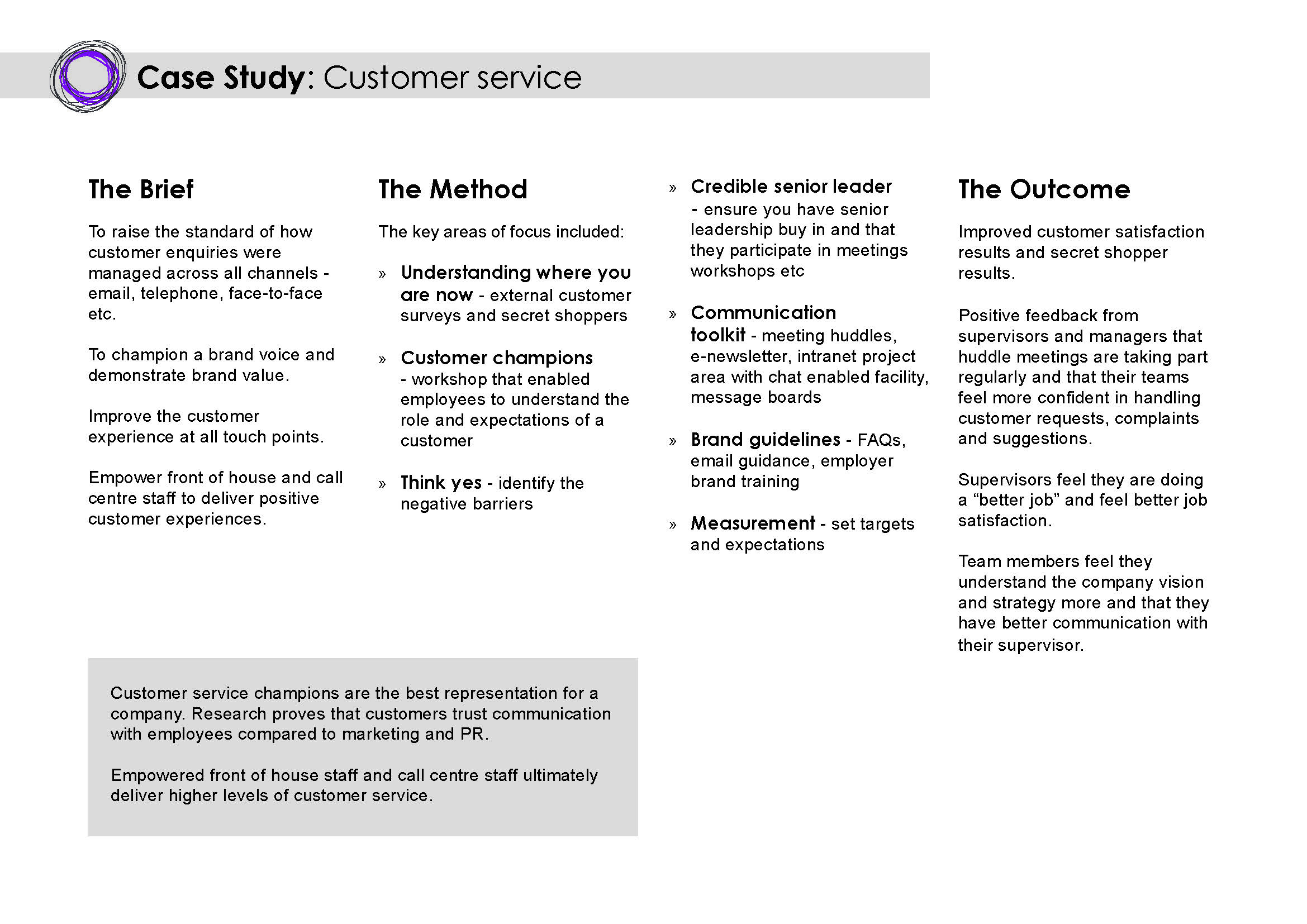 customers payback court case study