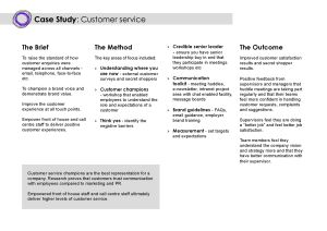 Customer Service Champions case study