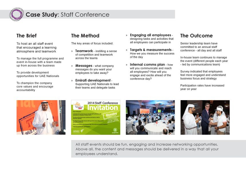 Staff Conference case study